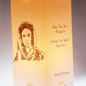 Sahir-Ludhiyanvi-Amrita-Pritam-Lamps|Gift-for-book-lovers|Artykite