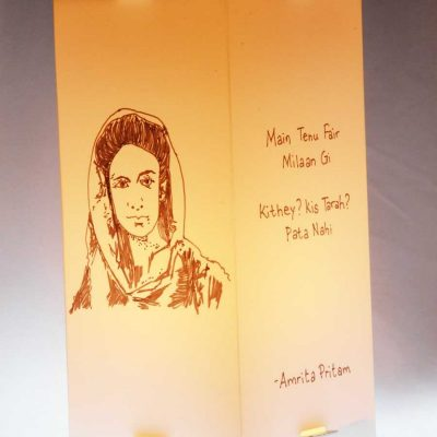 Sahir-Ludhiyanvi-Amrita-Pritam-Lamps|Gift-for-book-lovers|Artykite