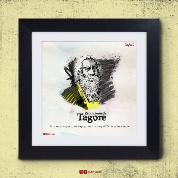 It-is-very-difficult-to-be-simple-Rabindranath-Tagore-poster