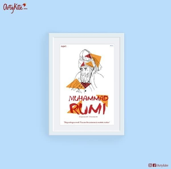 Universe-in-ecstatic-motion|Rumi-Poster|Artykite