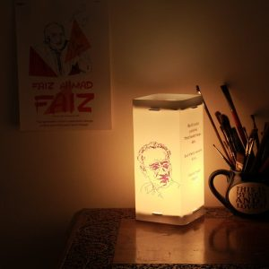 Manto-Ismat-Chughtai-Portrait-Lamp|Gift-for-Book-Lovers|Artykite