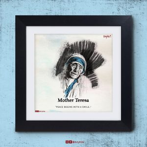 Peace-Begins-With-A-Smile|Mother-Teresa-Poster|Artykite