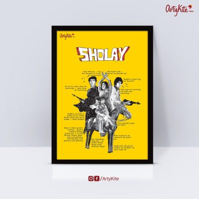 Sholay-poster|Gifts-for-book-lovers|Artykite