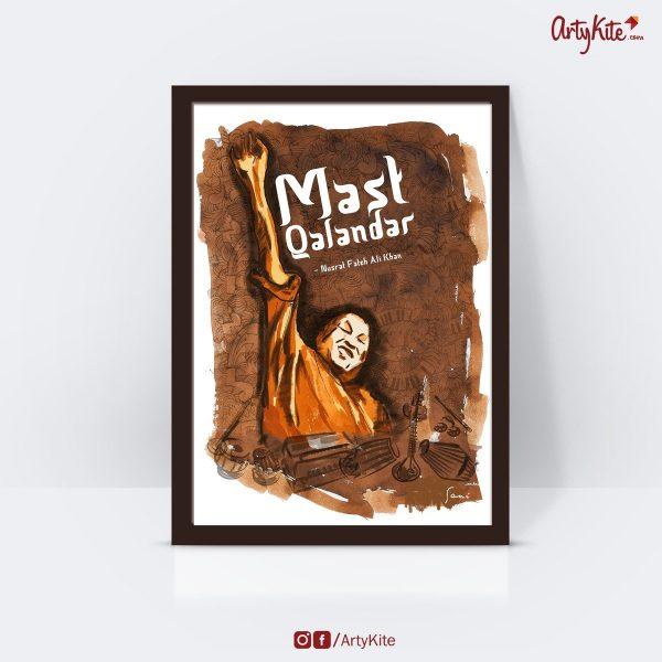 Mast-Qalandar-poster Gift-for-book-lovers Artykite