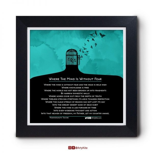 Where-Mind-is-Without-Fear|Tagore-Poster|Artykite