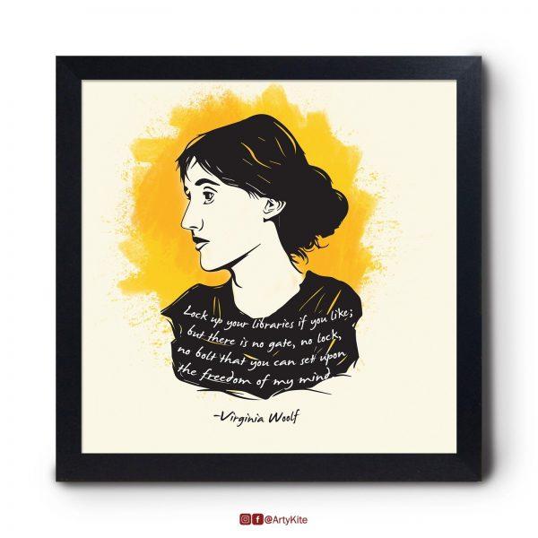 Freedom-of-Mind|Virginia-Woolf-Poster|Artykite