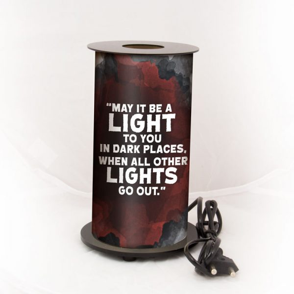 J.R.R. Tolkien — 'May it be a light to you in dark places, when all other lights go out.'