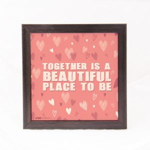 Beautiful place to be: Quote Frame